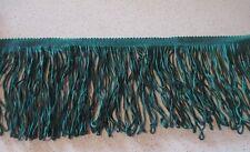DOUBLE LOOPED CHAINETTE-FRINGE -14cm- BRAID - Birch - Emerald - Col 68-PER METRE
