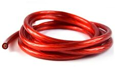 4 GAUGE POWER GROUND WIRE CABLE  RED 10 FT PIECE GREAT FOR BATTERY AMPLIFIER