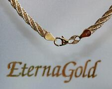 """GORGEOUS NEW 14K YELLOW ETERNA GOLD TWISTED ROPE 16"""" NECKLACE NECK CHAIN. NIB"""