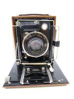 ZEISS IKON FAVORIT 266/1 WOODEN FOLDING BED CAMERA with JENA TESSAR 150MM F4.5