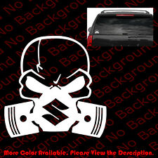 Skull Mask SUZUKI Window Vinyl Sticker Decal/GSX Ninja Motorcycle Punisher RC070