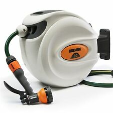 Holman RETRACTABLE HOSE REEL WITH SPRAY GUN Automatic Rewind*AUS Brand-10 Or 20m
