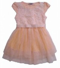 New With Tag Yellow Tulle Dress With Flower Applique Size 4