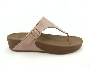 Fitflop SuperJelly Women's Peach Thong Sports Sandals Size 9 403-137