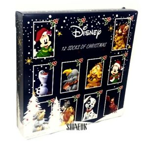 Disney official 12 Days of Sock Ladies Christmas countdown advent calendar Gift