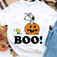 Peanuts Halloween Snoopy Woodstock BOO Pullover T-shirt