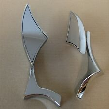 Chrome Spear Blade Mini mirrors for Suzuki GSXR 600 750 1000 1300 Hayabusa GSX-R