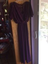 TIANA B...XS..JUMPSUIT ..Purple  LACE..95%POLY5% SPANDEX..NO BELTELASTIC