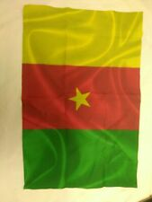 "Cameroon Flag 12"" by 18"" indoor outdoor - Cameroonian Flags Banner star"