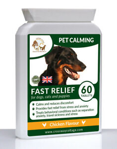 Dogs & Cats Calming Tablets for Anxiety Caused by Fireworks & Loud Noises