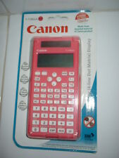 NEW CANON SCIENTIFIC PINK CALCULATOR LARGE 4 LINE LCD DISPLAY F-718SGA + CASE