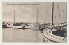 B&W Photo PC Boat Basin Ocean Beach Fire Island New York 1949 Bay side view