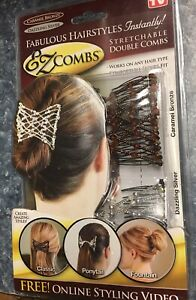 EZ Combs Caramel Bronze/Dazzling Silver As Seen On TV  NEW