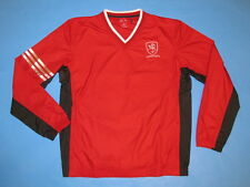 ADIDAS Lithuania VYTIS V-Neck Wind Shirt Jacket Red Size S Lithuanian Knight