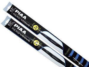 "Piaa Aero Vogue Windshield Wiper w/ Silicone Blades (22""/20"" Set) Made in Japan"