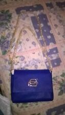 piquadro Borsa pochette cerimonia tracolla catena saffiano sint blu elettrico