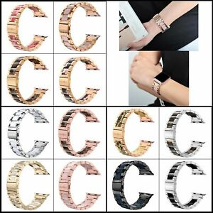 Band for Apple Watch 38/40mm 42/44mm Resin & Metal Bracelet for Series 6 5 4 3 2