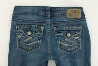 Silver Suki Surplus Medium Wash Blue Jeans Womens 26 (27 x 30.5) Bootcut Flap