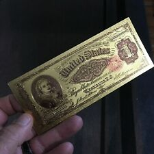 💥amazing💥24K Gold Collectors <1891> $1 Silver Dollar Certificate Banknote