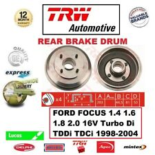 FOR FORD FOCUS 1.4 1.6 1.8 2.0 16V Turbo Di TDDi TDCi 1998-2004 REAR BRAKE DRUM