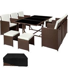 Set di mobili da giardino poli rattan arredamento Sedie Sgabelli Tavolo marron n