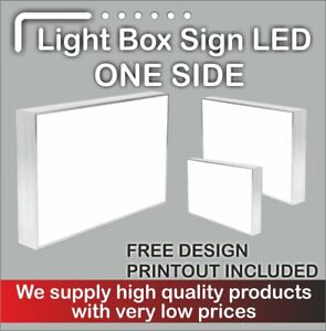 Illuminated Light Box Shop Sign (FREE DELIVERY + FREE DESIGN) - 130 cm x 60cm