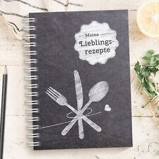 DIY Rezeptbuch zum selberschreiben & gestalten: DIN A5 Kochbuch, Made in Germany