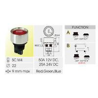 Universal 12V Auto Motorstart Druckknopfschalter Zündstarter Kits Rote LED