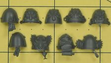 Warhammer 40K Space Marines Blood Angels Death Company Shoulder Pads (A)