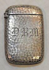 Antique Sterling Silver Hand Hammered Match Safe or Vesta Case