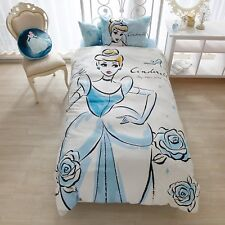 Disney Cinderella futon Bed cover/sheets/pillow case 3 set f/s Japan