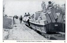 Deutsche Pferde-Feldbahnen in Russisch-Polen Historische Aufnahme von 1915