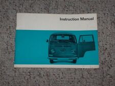 1969 Volkswagen VW Type 2 Bus Van Kombi Transporter Owner Operator User Manual