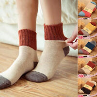 Winter Women Thicken Cotton Patchwork Socks Mid Tube Socks Warm