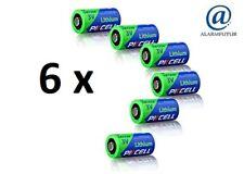 Lot de 6 piles lithium CR123A Pkcell ( vrac/bulk ) 3 Volts en 1500 mAh