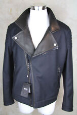 HUGO-BOSS-SELECTION-BIKER-JACKE-T-CASANO-50-TAILORED-LEDER-MANTEL-COAT-JACKET-L