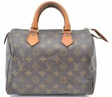 Authentic Louis Vuitton Monogram Speedy 25 Hand Bag M41528 LV A8402