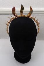 Tenille Crystal Crown, Wedding Tiara Handfasting, Real Jasper & Fire Gemstones