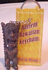 "Ancient Hawaii Hawaiian "" God Of Money Tiki "" Key Chain Collectible Souvenir"