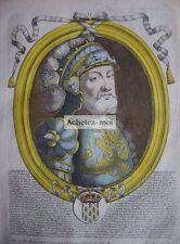 Gravure de DAGOBERT Ier   Roi des Francs  Nicolas de LARMESSIN