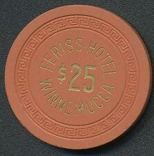 "Ferris Hotel Winnemucca NV 1st Issue with ""Feriss"" Spelling $25 Chip 1958 R7"