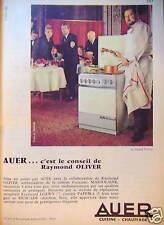 PUBLICITÉ CUISINIÈRE AUER 5 FEUX TOUS GAZ MARJOLAINE RAYMOND OLIVER ET LOEWY
