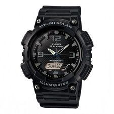Casio Solar Analog/Digital Watch, Black Resin, 100 Meter, 5 Alarms, AQS810W-1A2V