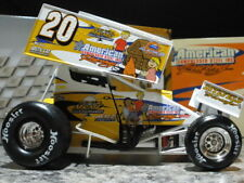 tony stewart world of outlaws 2004 compressed steel inc. #20 1/24 sprint car new