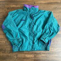 Vintage 90s Columbia Bugaboo Full Zip Jacket Coat Womens XL Green Purple