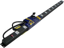 """48"""" Metal Power Strip with 12 Outlets, Surge Protected, 4126"""