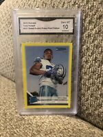 2019 Donruss Tony Pollard Rated Rookie Yellow Press Proof Cowboys Graded 10