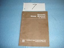 KAWASAKI 1972  H SERIES TRIPLES IN USED FAIR CONDITION SHOP MANUAL