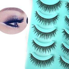 Beauty Tools Pretty Long Thick Cross False Eyelashes 5 Pairs Eye Lashes Makeup