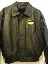 New JAGUAR LEATHER  RACING JACKET Black
